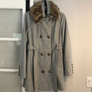 Black Rivet brand 3/4 length gray pea coat